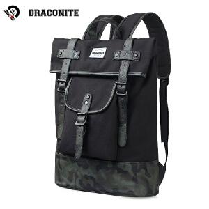 DRACONITE潮牌迷彩双肩包男女生帆布韩版学院风防水书包背包11659