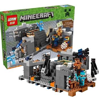 乐拼18002我的世界 创世神末地传送门丛林树屋积木儿童益智玩具