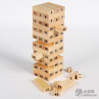 大贸商 益智积木 叠叠高 木制儿童玩具 早教经典批发54根 EX10021