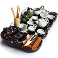 尚帝 陶瓷茶具套装 压板实木祥龙茶盘 茶具套装XMBH2014-070A1