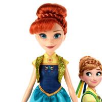 孩之宝冰雪奇缘生日惊喜系列安娜人偶娃娃
