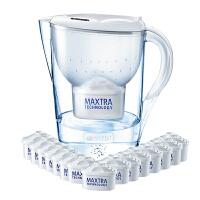 碧然德(Brita)净水器净水壶滤水壶滤水杯(Marella3.5L套装) 1壶16芯 白色