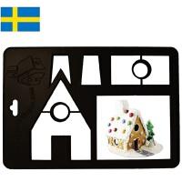 【当当海外购】瑞典进口Orthex姜饼屋3D模具烘焙DIY巧克力饼干模具(安徒生城堡)