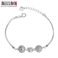 相思树 蝴蝶结手链女士 纯银转运珠韩版时尚饰品 925银饰SL029