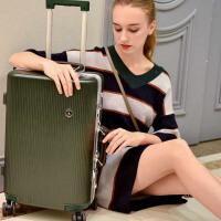 【支持礼品卡】USO复古铝框拉杆箱万向轮英伦风欧美旅行箱8178-26寸免费托运行李箱赠送箱套+U枕