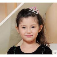 简单大方优雅女童高贵皇冠插梳 小巧精致韩国百搭儿童舞蹈表演出发饰头饰