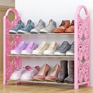亚思特铁艺简易鞋架 多层收纳鞋柜简约经济型组装防尘鞋架子XJH163