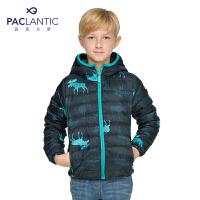 派克兰帝童装 男童女童超轻薄连帽羽绒服 儿童冬季保暖外套